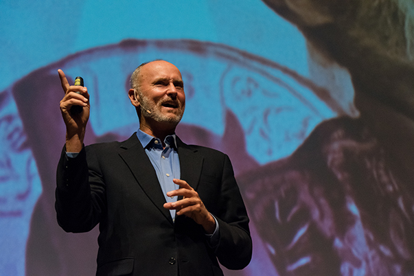Chip Conley presentation at Power Forward photo by Kay Meyer