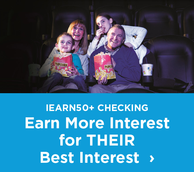 Iearn 50 plus checking earn more interest for theri best interest